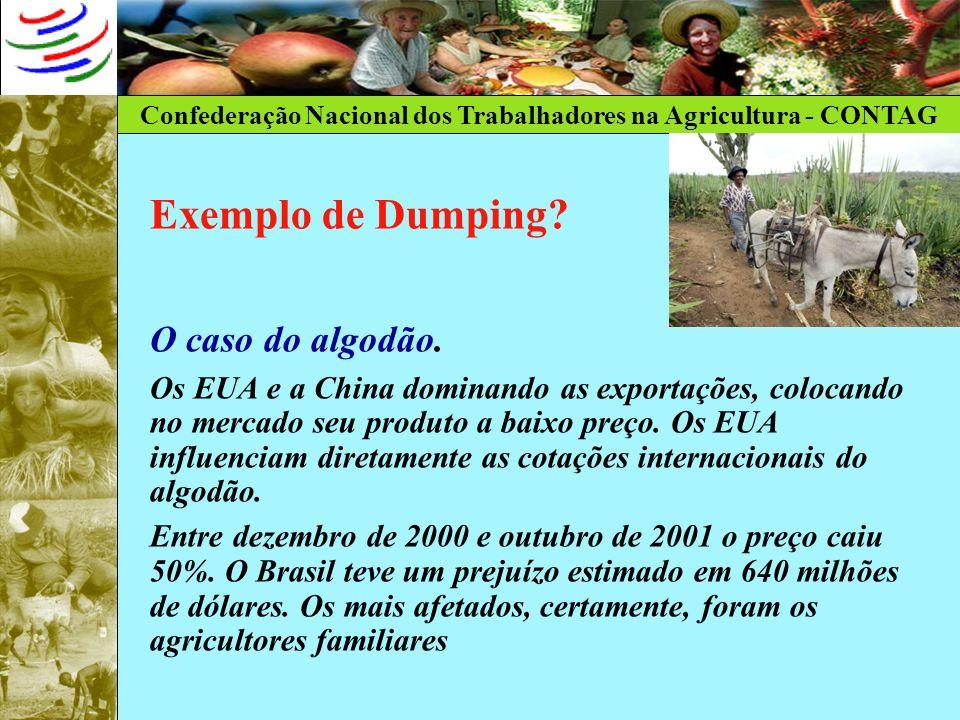 Exemplo de Dumping O caso do algodão.