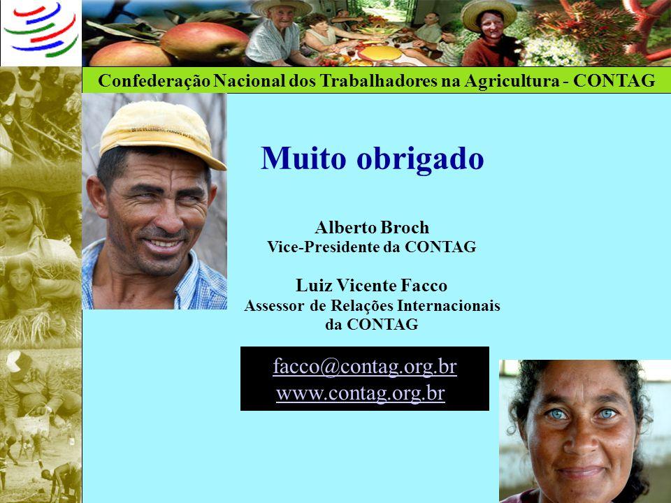 Vice-Presidente da CONTAG Assessor de Relações Internacionais