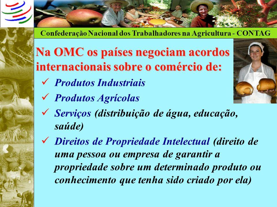 Na OMC os países negociam acordos internacionais sobre o comércio de: