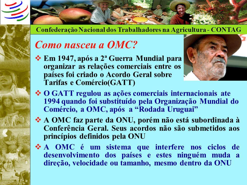 Como nasceu a OMC