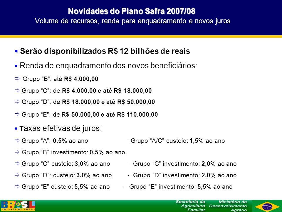 Serão disponibilizados R$ 12 bilhões de reais