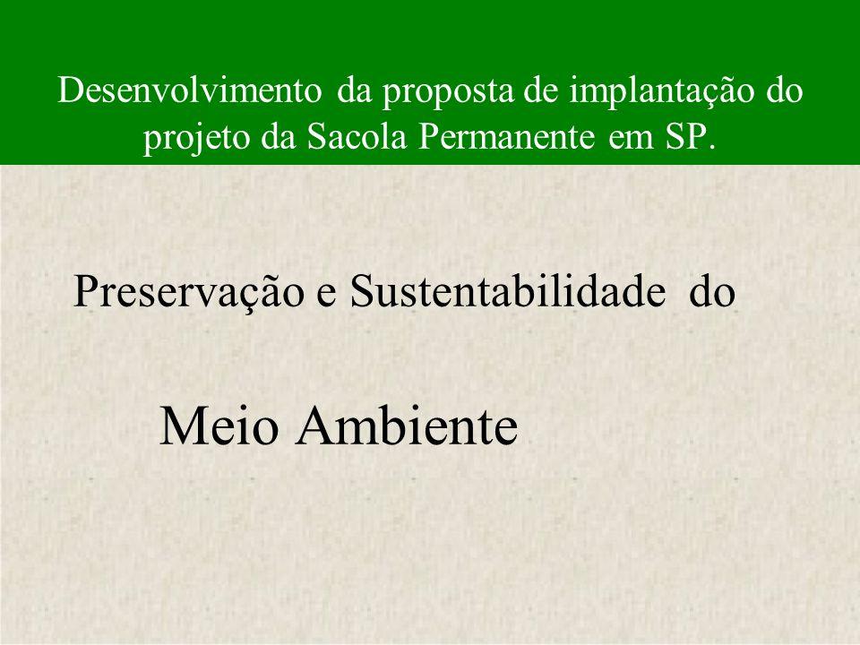 Preservação e Sustentabilidade do Meio Ambiente