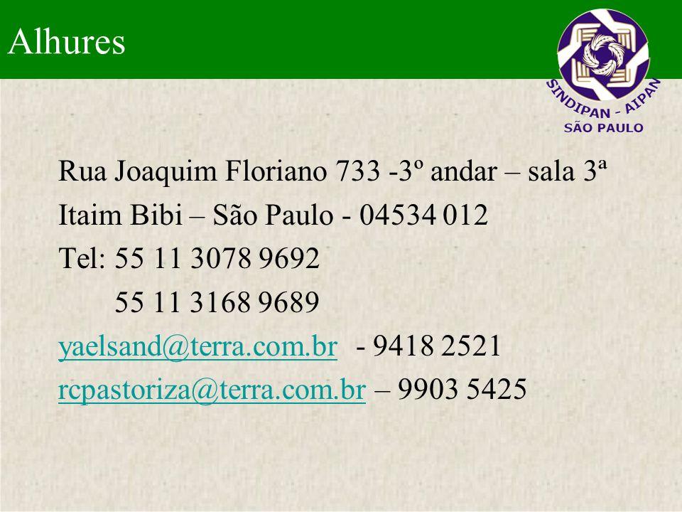 Alhures Rua Joaquim Floriano 733 -3º andar – sala 3ª