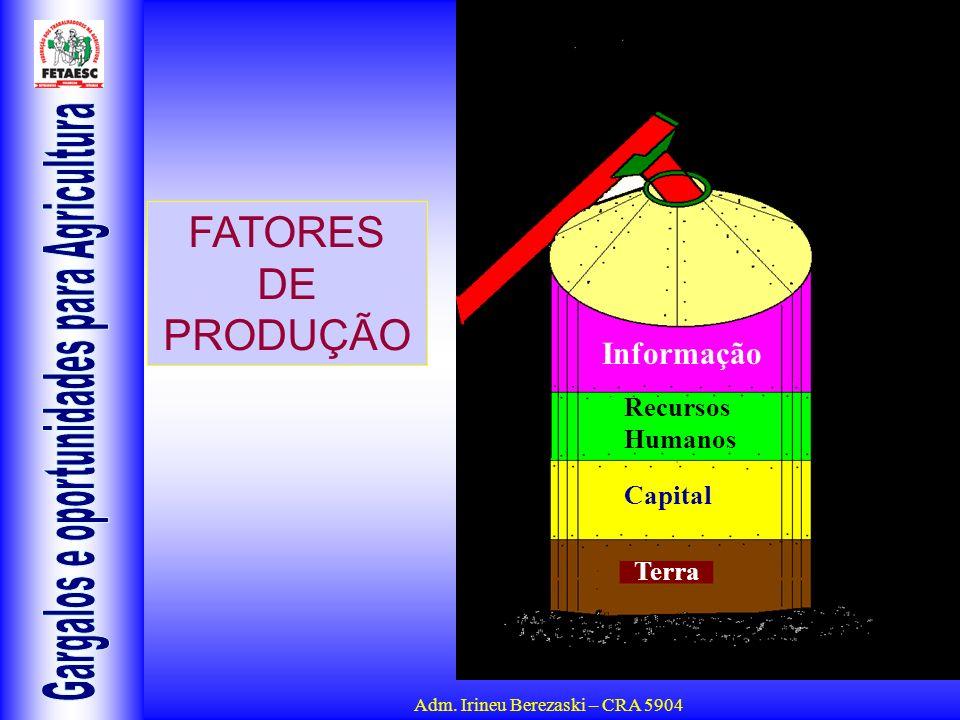 FATORES DE PRODUÇÃO Informação Recursos Humanos Capital Terra