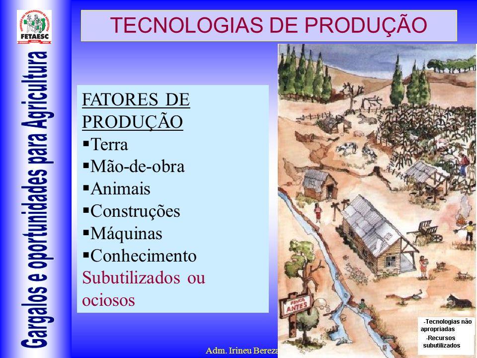 TECNOLOGIAS DE PRODUÇÃO