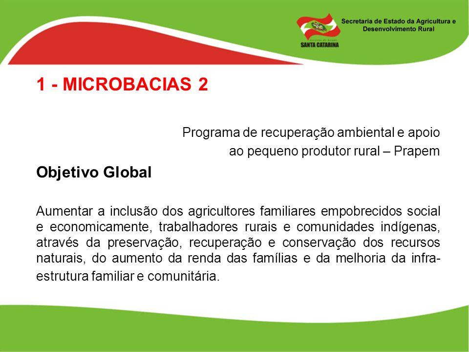 1 - MICROBACIAS 2 Objetivo Global