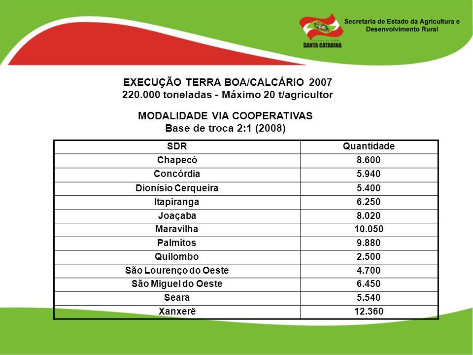 EXECUÇÃO TERRA BOA/CALCÁRIO 2007