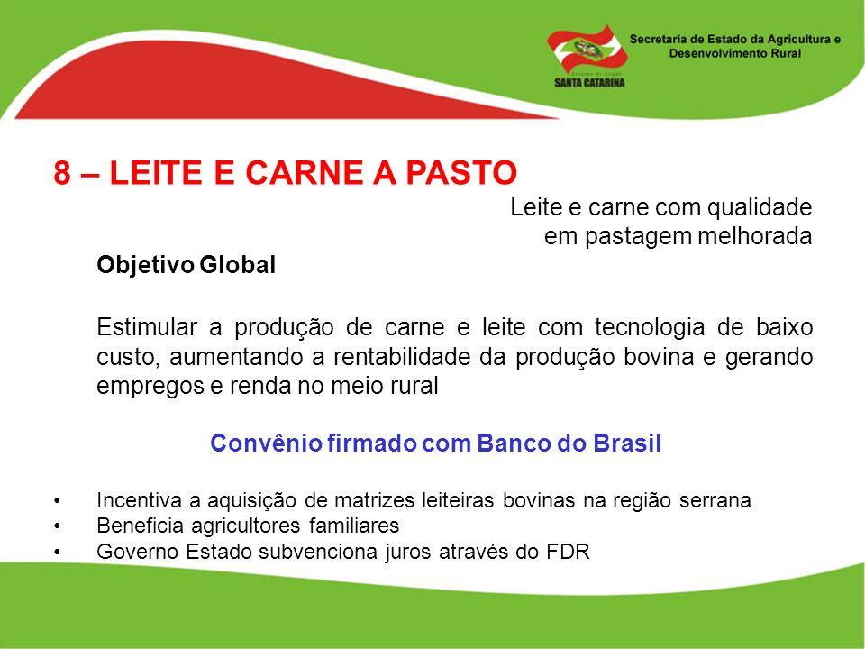 Convênio firmado com Banco do Brasil
