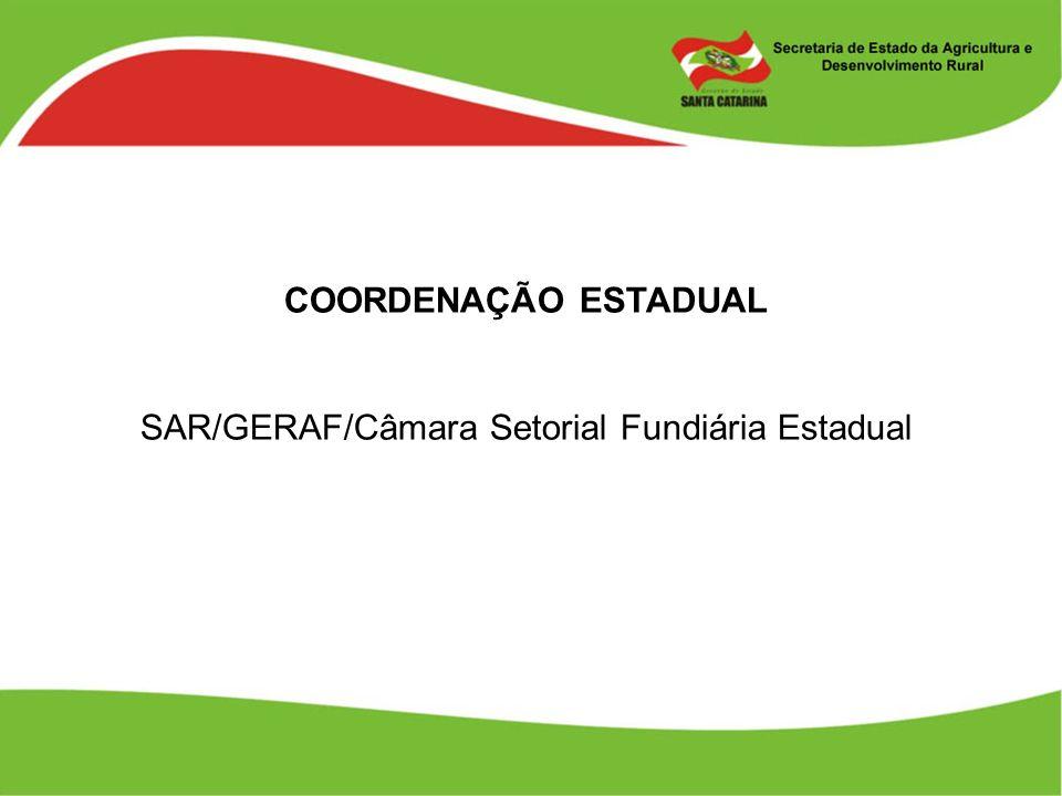 SAR/GERAF/Câmara Setorial Fundiária Estadual