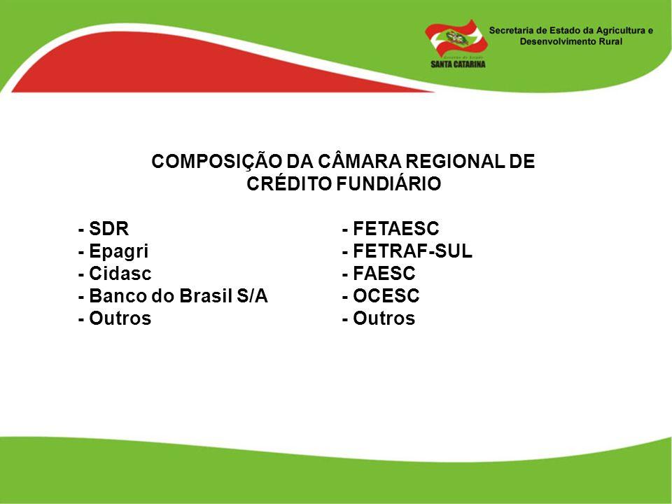 COMPOSIÇÃO DA CÂMARA REGIONAL DE