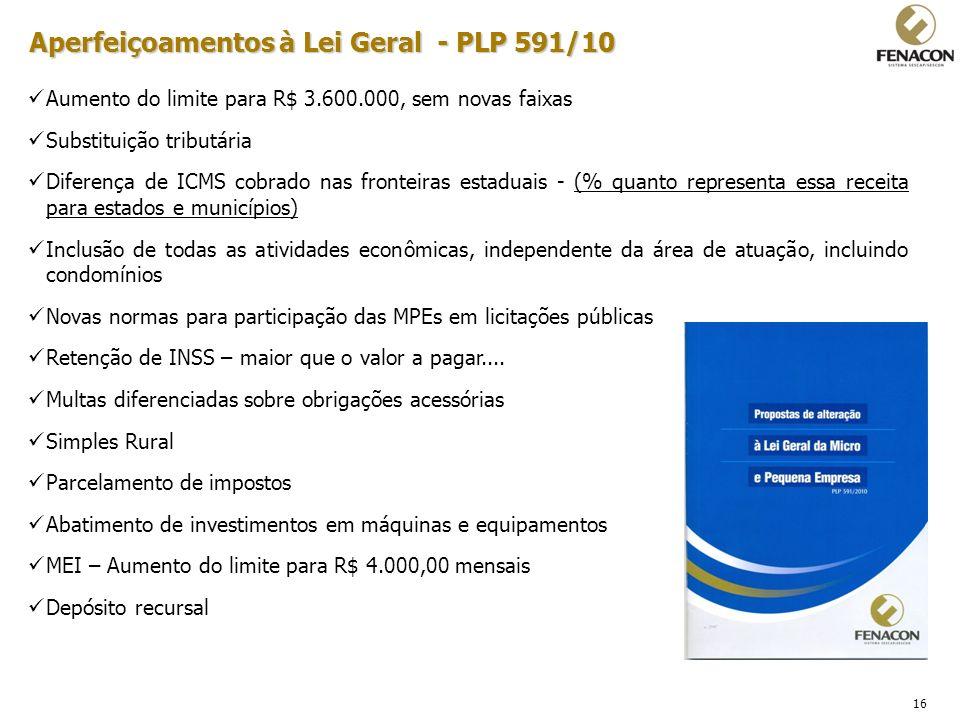 Aperfeiçoamentos à Lei Geral - PLP 591/10