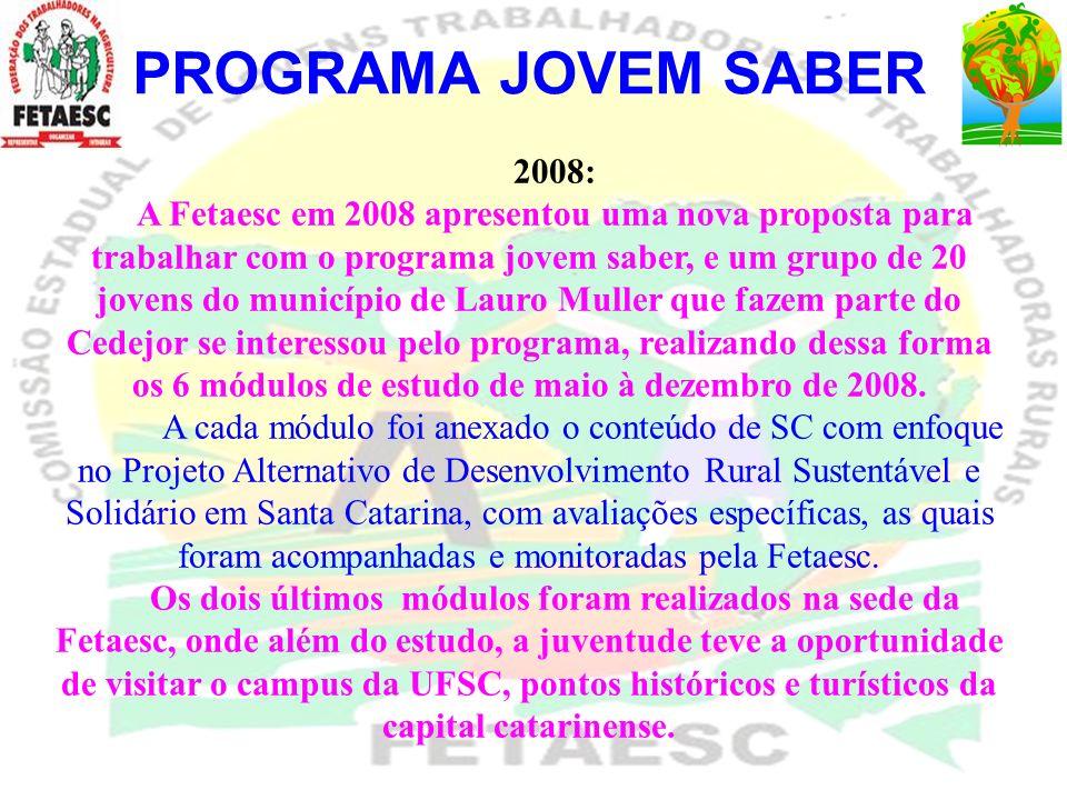 PROGRAMA JOVEM SABER 2008:
