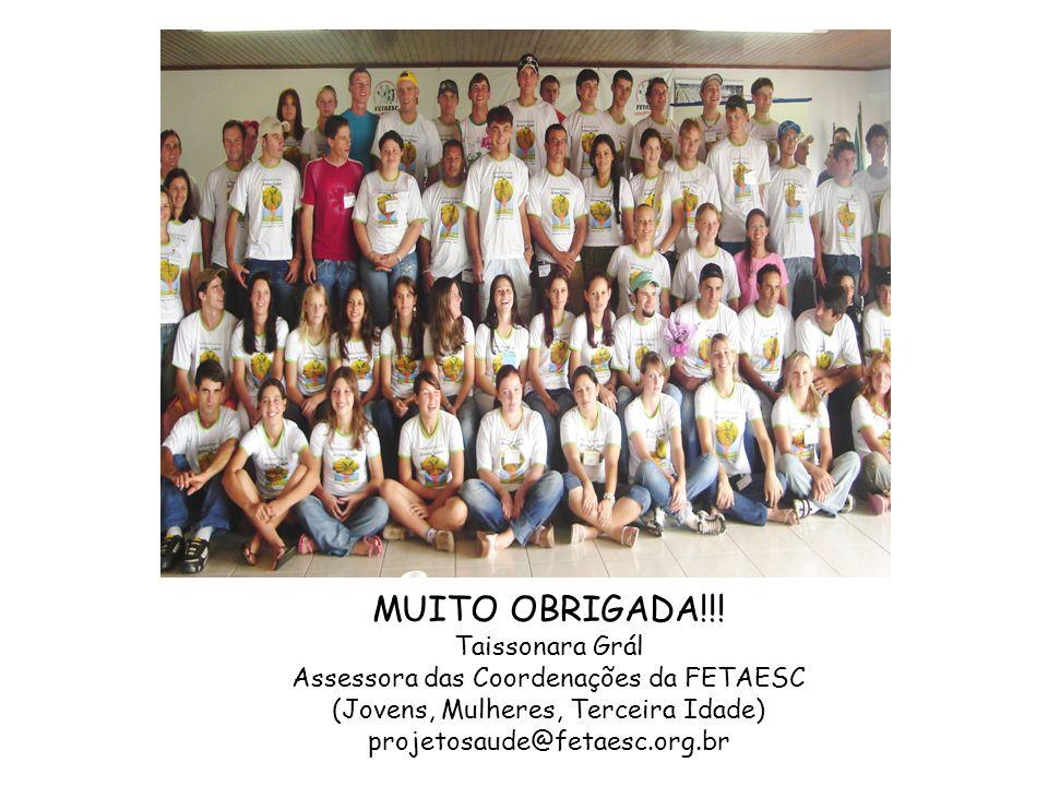 MUITO OBRIGADA!!! Taissonara Grál