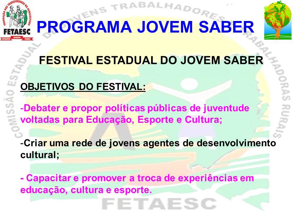 FESTIVAL ESTADUAL DO JOVEM SABER
