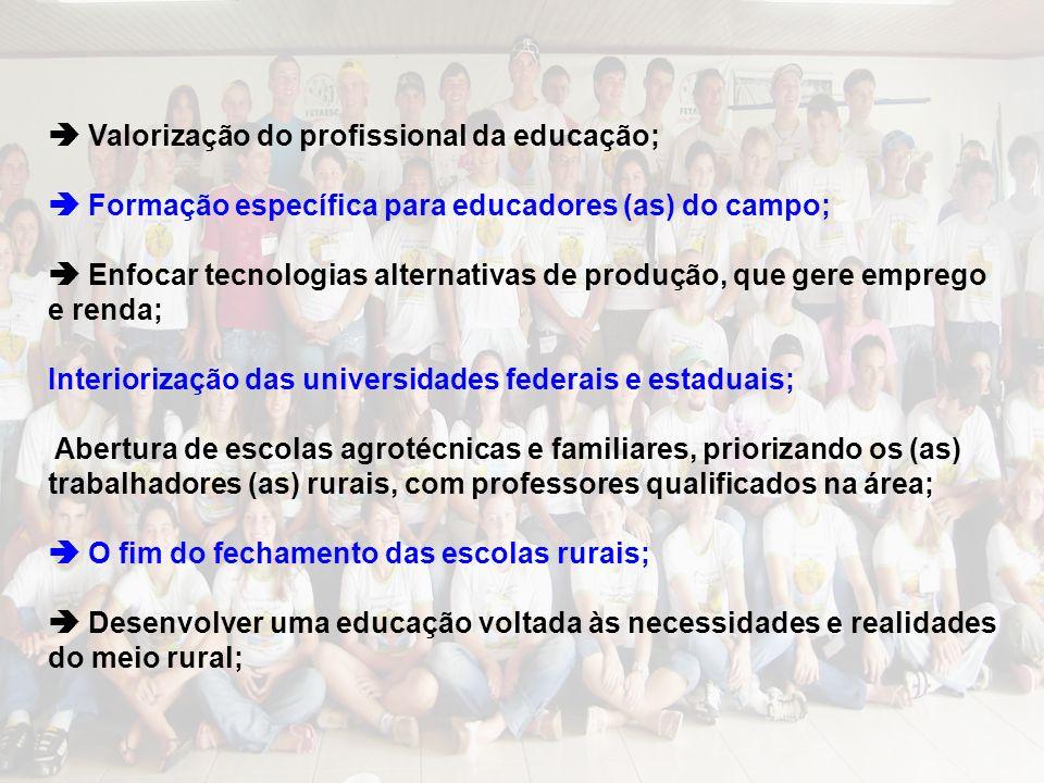  Valorização do profissional da educação;