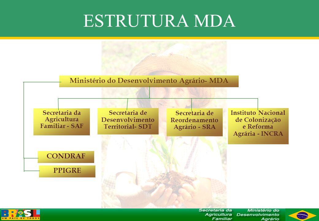 ESTRUTURA MDA Ministério do Desenvolvimento Agrário- MDA CONDRAF