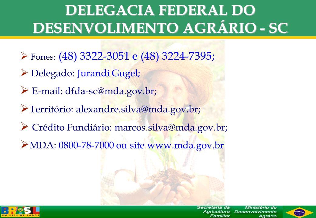 DELEGACIA FEDERAL DO DESENVOLIMENTO AGRÁRIO - SC