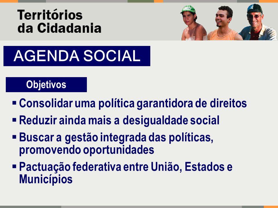 AGENDA SOCIAL Consolidar uma política garantidora de direitos