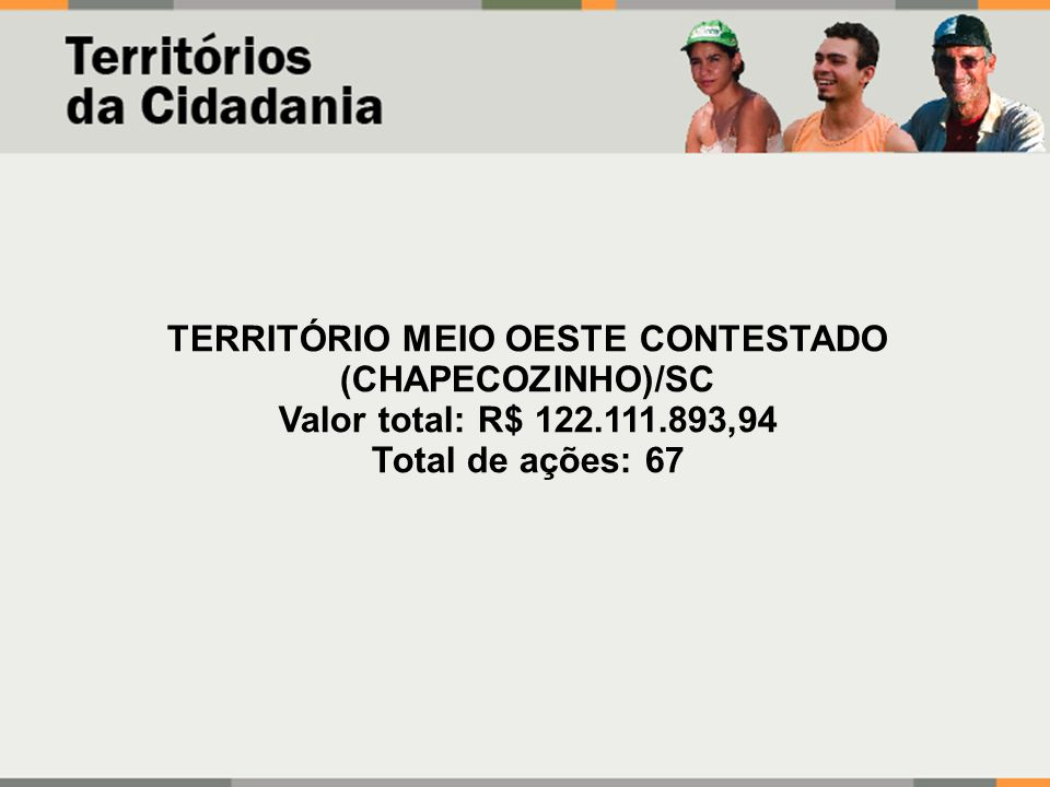 TERRITÓRIO MEIO OESTE CONTESTADO (CHAPECOZINHO)/SC
