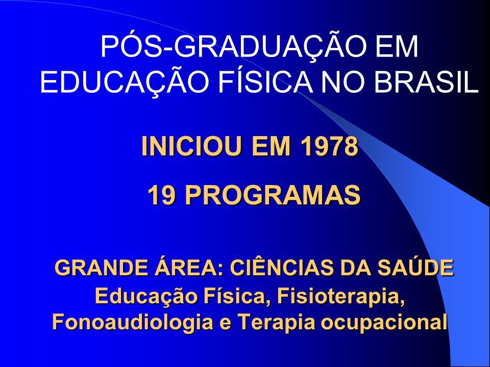 PÓS-GRADUAÇÃO EM EDUCAÇÃO FÍSICA NO BRASIL
