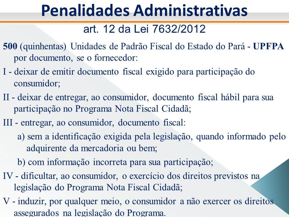 Penalidades Administrativas