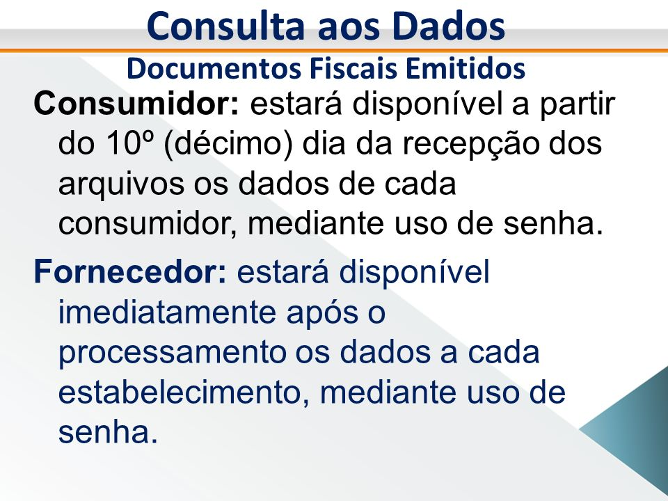 Documentos Fiscais Emitidos