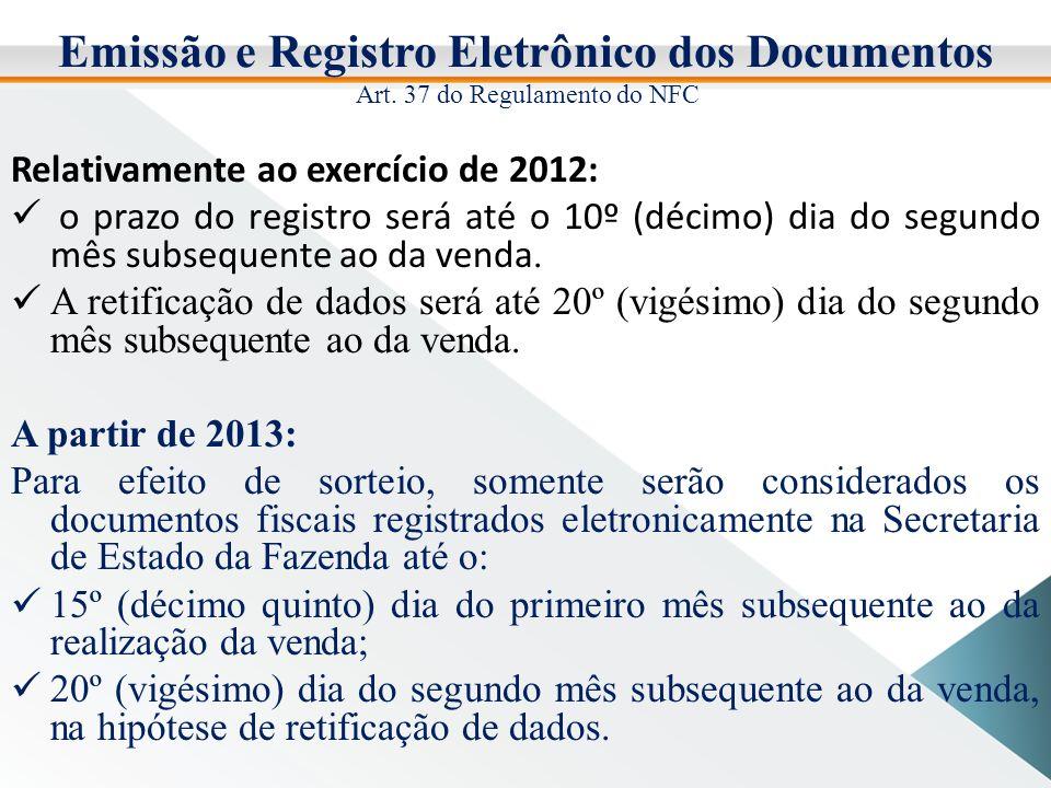 Emissão e Registro Eletrônico dos Documentos Art