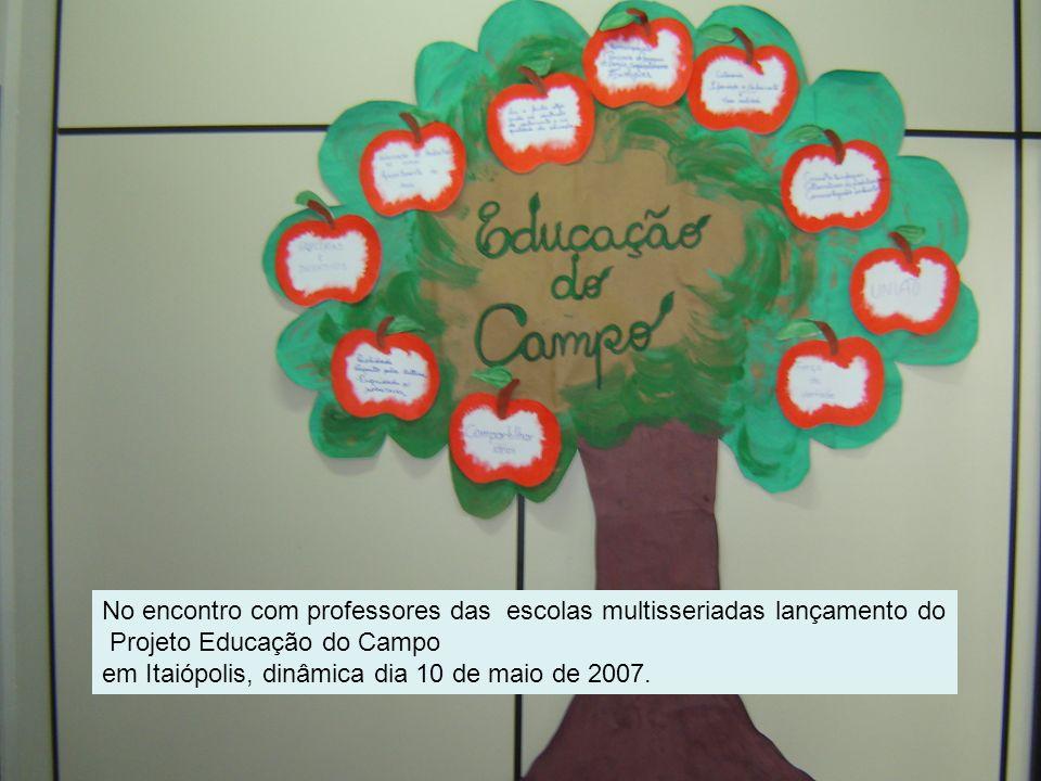 No encontro com professores das escolas multisseriadas lançamento do