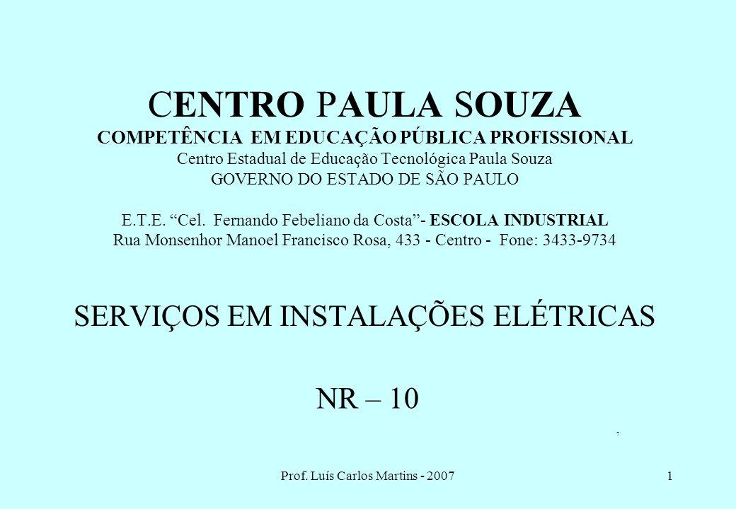 Prof. Luís Carlos Martins - 2007