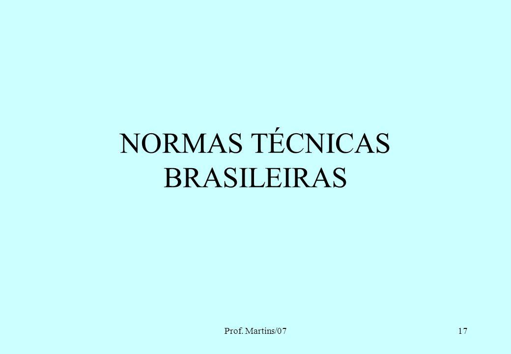 NORMAS TÉCNICAS BRASILEIRAS