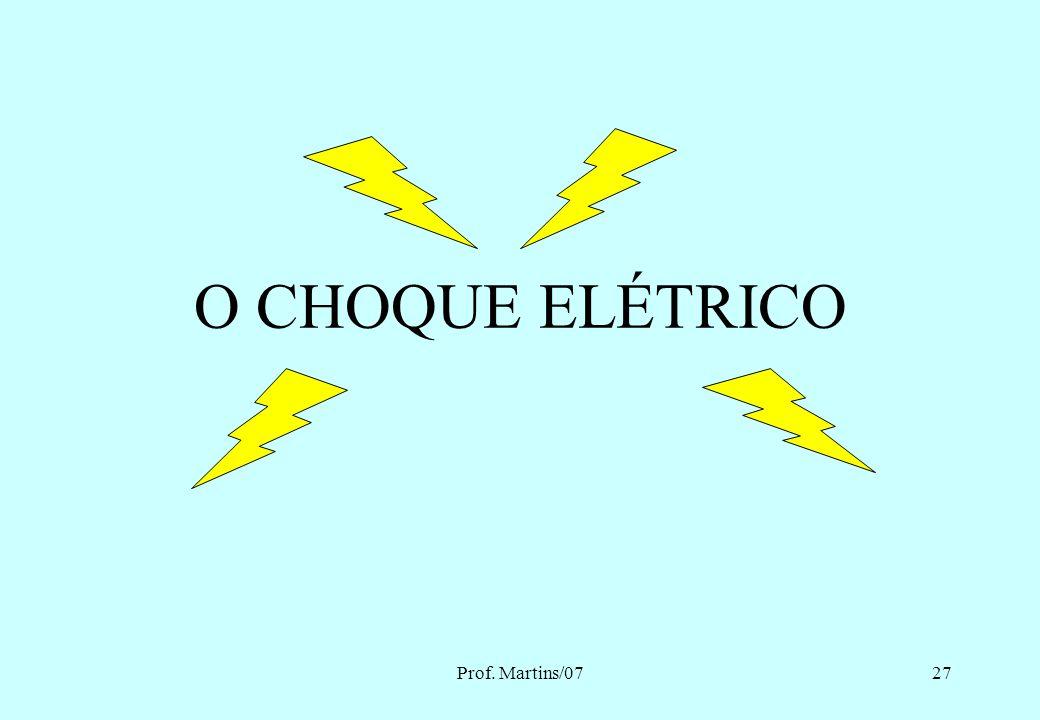 O CHOQUE ELÉTRICO Prof. Martins/07 Eng. MARTINS - 2007