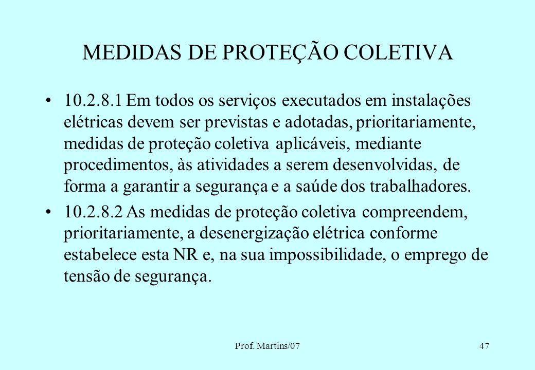 MEDIDAS DE PROTEÇÃO COLETIVA