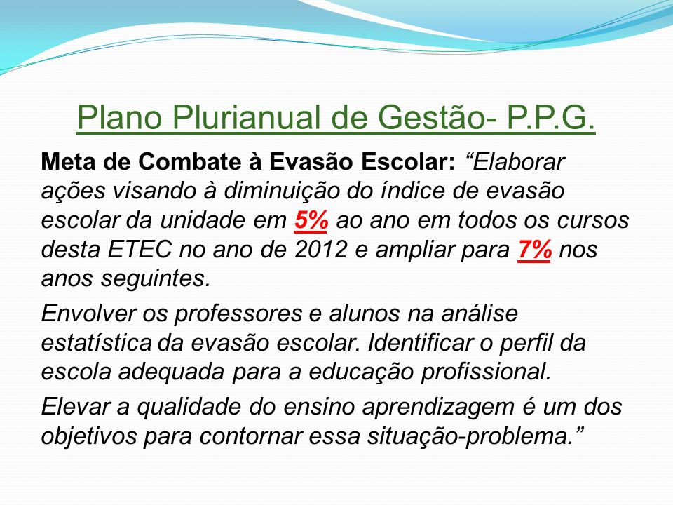 Plano Plurianual de Gestão- P.P.G.