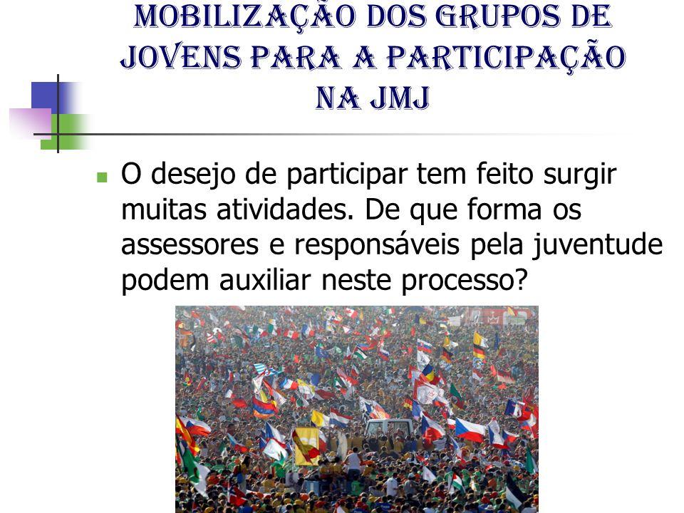 Mobilização dos grupos de jovens para a participação na jmj