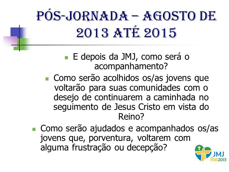 Pós-jornada – agosto de 2013 até 2015