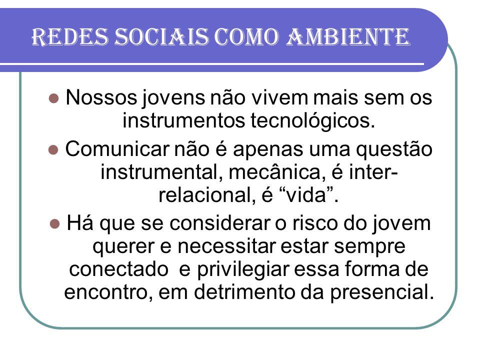 Redes sociais como ambiente