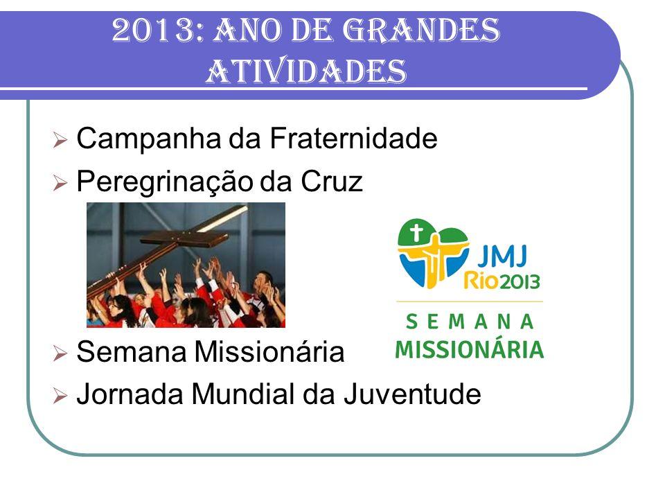 2013: ano de grandes atividades