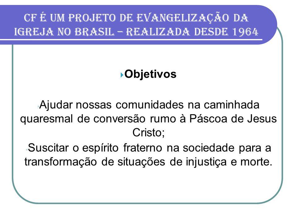 CF é um projeto de evangelização da Igreja no Brasil – realizada desde 1964
