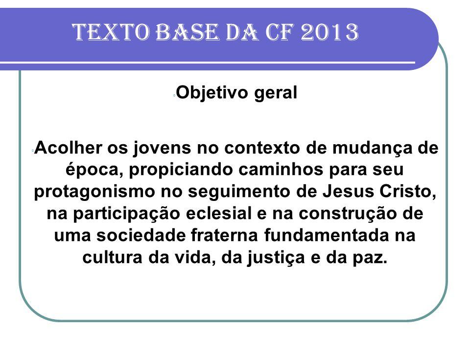 Texto base da cf 2013 Objetivo geral