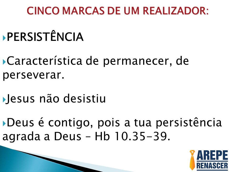 CINCO MARCAS DE UM REALIZADOR: