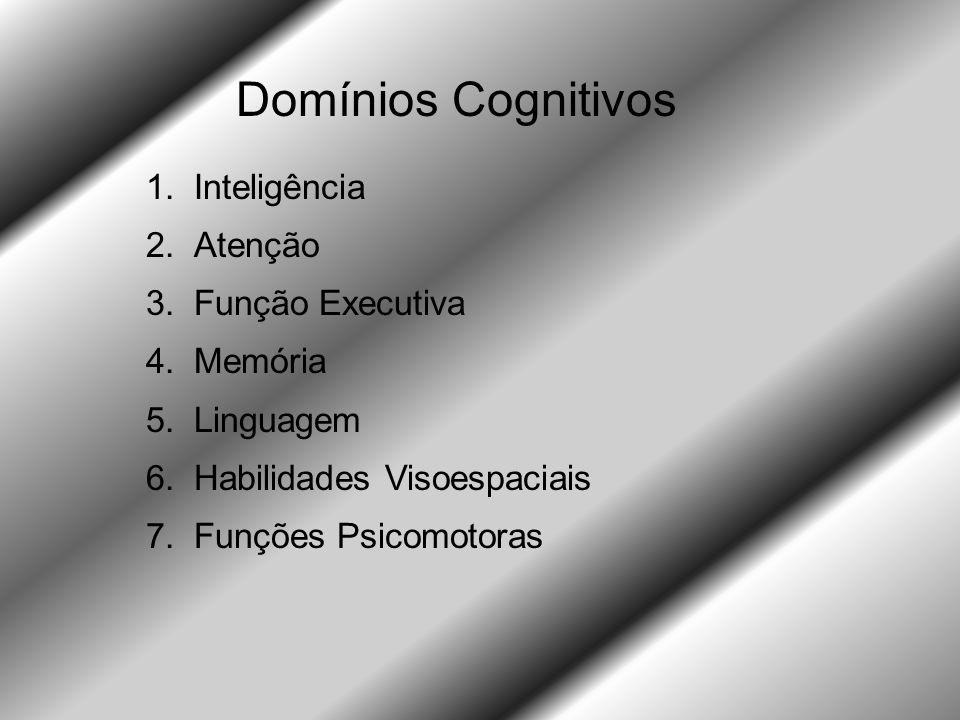 Domínios Cognitivos Inteligência Atenção Função Executiva Memória