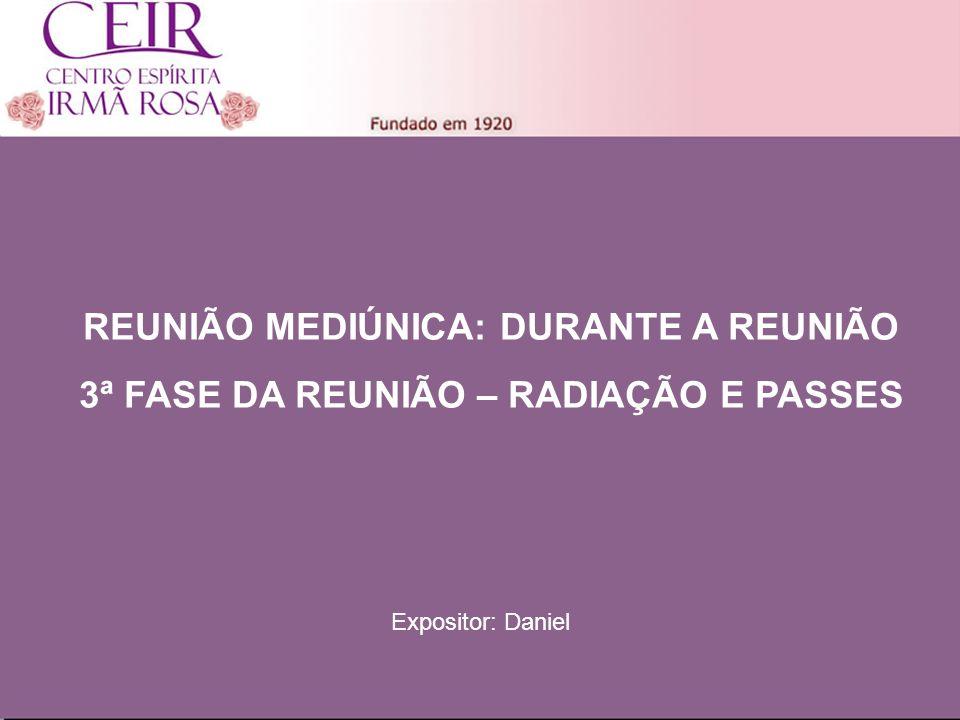 Título Principal REUNIÃO MEDIÚNICA: DURANTE A REUNIÃO