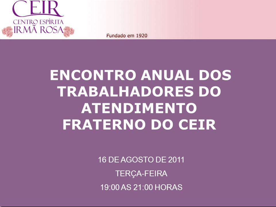 ENCONTRO ANUAL DOS TRABALHADORES DO ATENDIMENTO FRATERNO DO CEIR