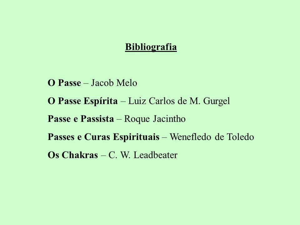 Bibliografia O Passe – Jacob Melo. O Passe Espírita – Luiz Carlos de M. Gurgel. Passe e Passista – Roque Jacintho.