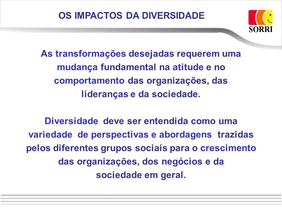 OS IMPACTOS DA DIVERSIDADE lideranças e da sociedade.