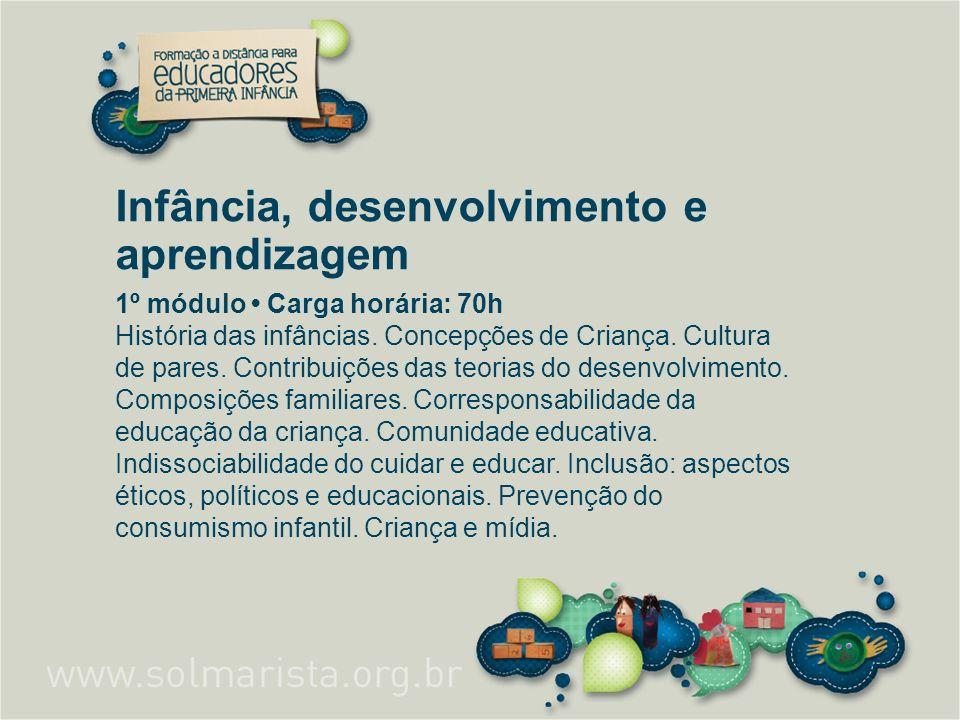Infância, desenvolvimento e aprendizagem