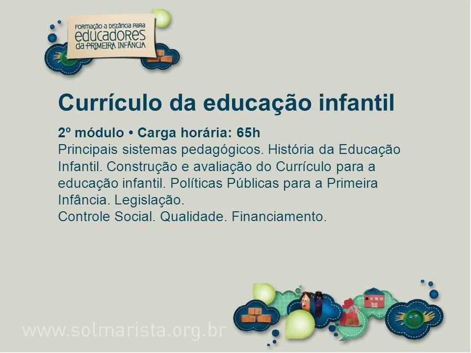 Currículo da educação infantil