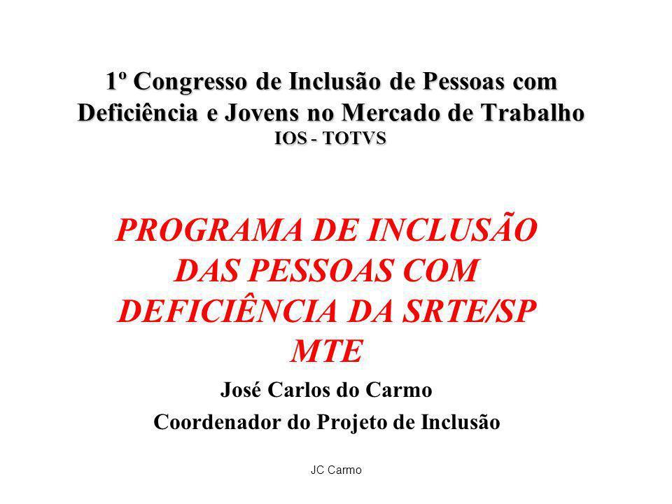 PROGRAMA DE INCLUSÃO DAS PESSOAS COM DEFICIÊNCIA DA SRTE/SP MTE