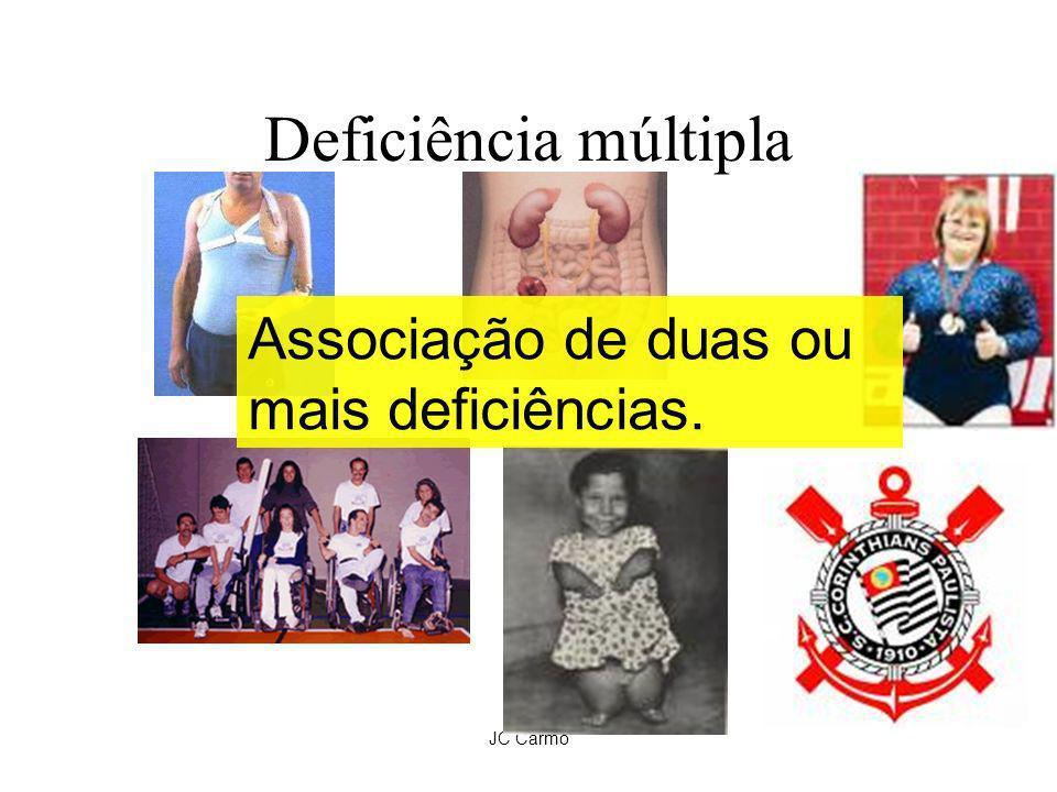 Deficiência múltipla Associação de duas ou mais deficiências. JC Carmo