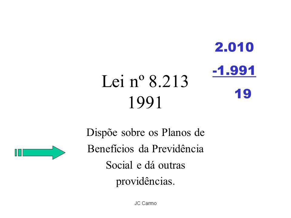Lei nº 8.213 1991 -1.991 19 Dispõe sobre os Planos de